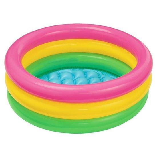Детский бассейн трехцветный от компании Intex