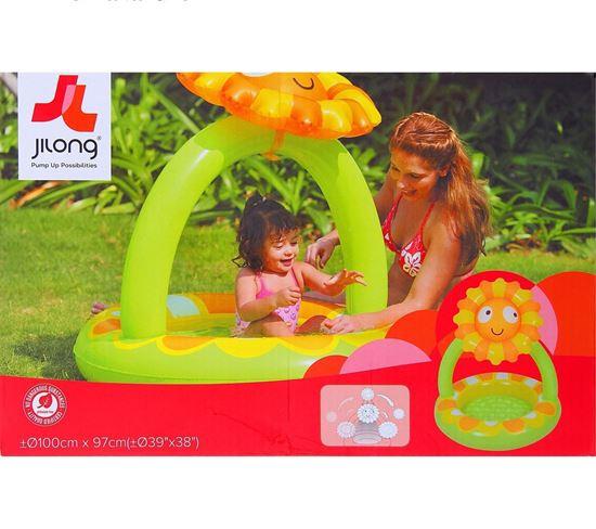 """Детский надувной бассейн со съемным куполом """"Солнышко"""""""