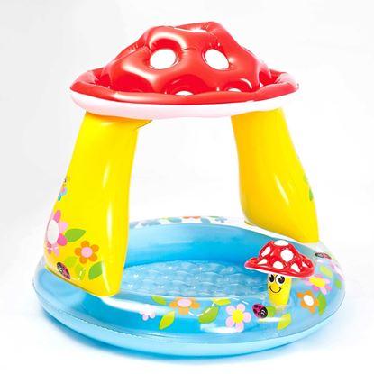 """Детский надувной бассейн """"Гриб"""" с тентом"""
