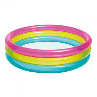 """Трехцветный круглый бассейн """"Радуга"""" для малышей 1-3 года"""
