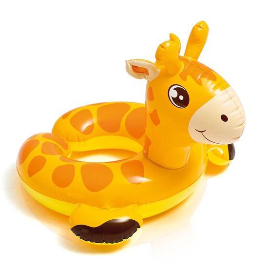 Яркий круг для плавания в виде Жирафика