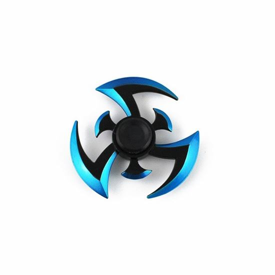 3 лезвия спиннер синий