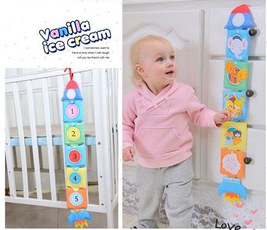 Детская развивающая игрушка-книжка на кнопках