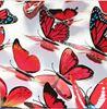 Наклейки-бабочки на стену красный