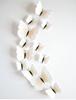 Наклейки-бабочки на стену белые с прожилками