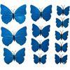 Наклейки-бабочки на стену синие с прожилками