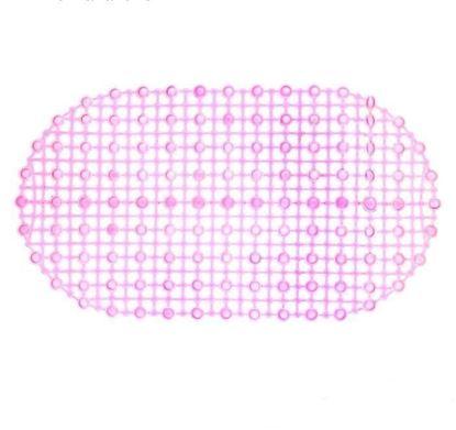 """Коврик для ванны 36х66 см силиконовый противоскользящий """"Капли воды"""", прозрачный"""