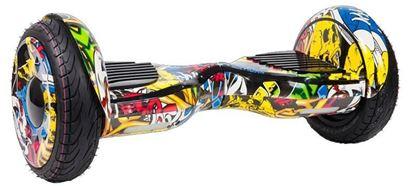 """Гироскутер Smart Balance 10,5"""", самобаланс + APP, желтый граффити"""