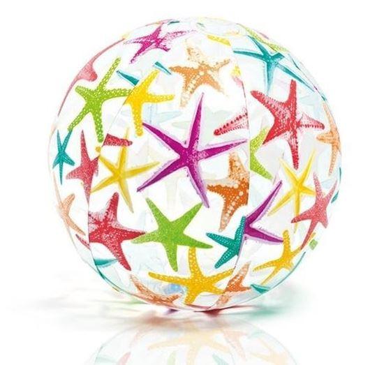 """Пляжный надувной мяч """"Узоры"""" с морскими звездами"""