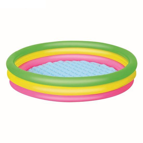 """Детский бассейн """"Радуга"""" с надувным дном"""