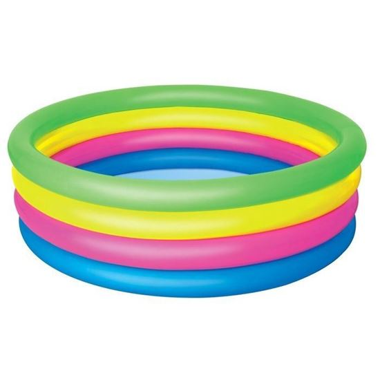 """Детский надувной бассейн """"Радуга"""" 4 кольца"""