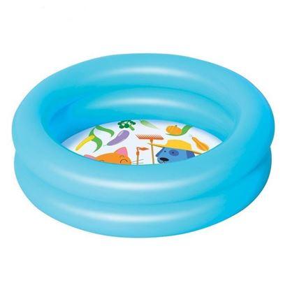 """Надувной бассейн """"Зверята"""" голубой"""