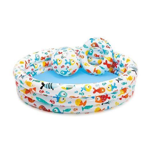 """Набор для плавания """"Подводный мир"""": бассейн, круг, мяч"""