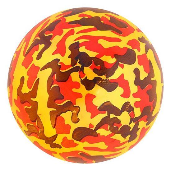 """Детский резиновый мяч """"Милитари"""" желтый"""