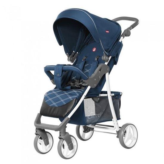 Прогулочная коляска Carrello Quattro синяя